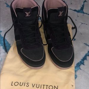 Louis Vuitton high top all Suede sneakers